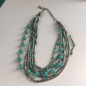Mint turquoise statement necklace